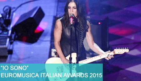 """Euromusica Italian Awards 2015: """"Io sono"""" di Paola Turci canzone dell'anno."""