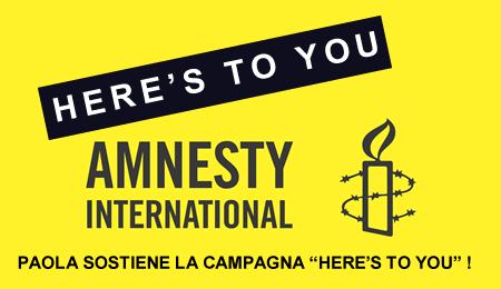 Paola Turci Here's ToYou - Amnesty International